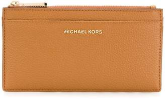 Michael Kors embossed logo wallet