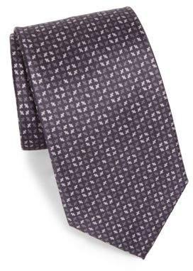 Brioni Pattern Print Silk Tie