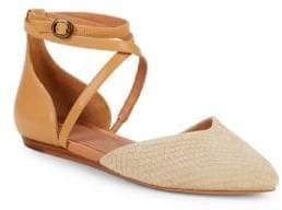 UGG Izabel Leather Ankle-Strap D'Orsay Flats