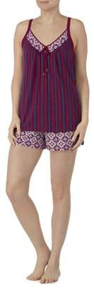Secret Treasures Women's and Women's Plus Modern Rayon Pajama Tank and Short 2 Piece Sleepwear Set