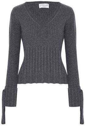 Derek Lam 10 Crosby Bow-Embellished Ribbed Wool-Blend Sweater