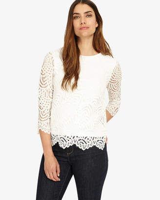 Phase Eight 3/4 Sleeve Tessa Lace Top