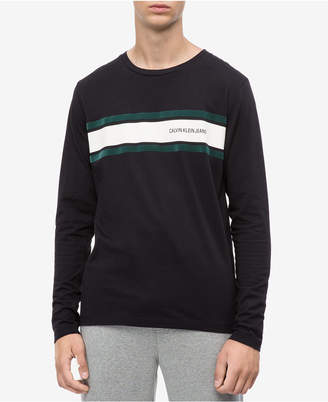 Calvin Klein Jeans Men's Long-Sleeve Striped T-shirt