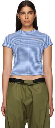 Eckhaus Latta SSENSE Exclusive Blue Lapped Baby T-Shirt