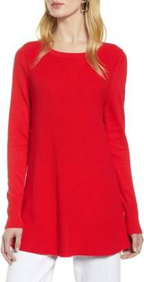 Halogen Split Back Tunic Sweater