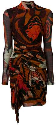 Alexander McQueen ruched printed dress