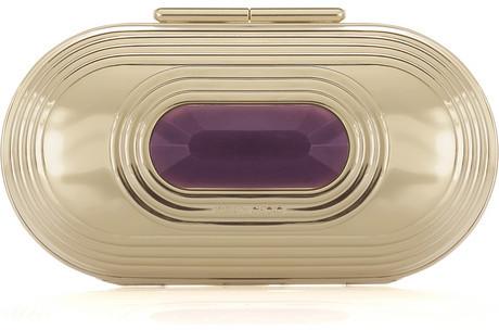 Jimmy Choo Kase oval clutch