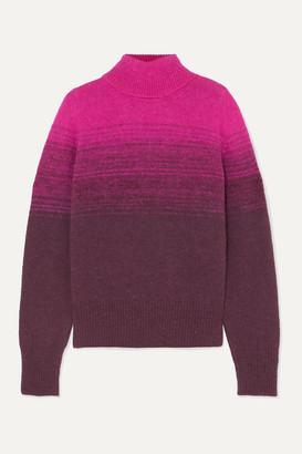 Dries Van Noten Taraz Ombré Knitted Turtleneck Sweater - Fuchsia