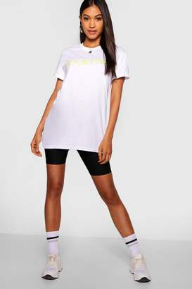 boohoo Neon Chinese Symbol Front & Back T-Shirt