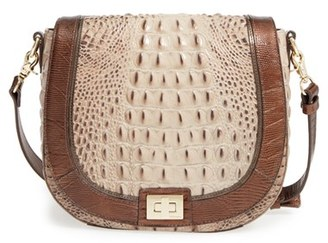 Brahmin 'Sonny' Embossed Leather Crossbody Bag $295 thestylecure.com
