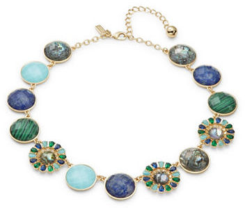 Kate Spade Kate Spade New York Peacock Way Stone-Accented Statement Necklace
