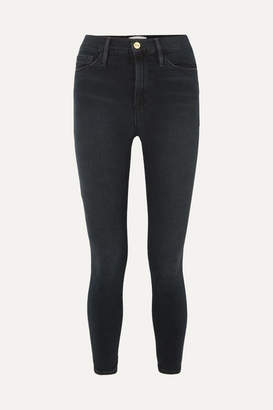 Frame Ali High-rise Skinny Jeans - Black