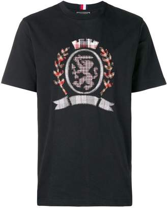 Tommy Hilfiger tartan logo T-shirt