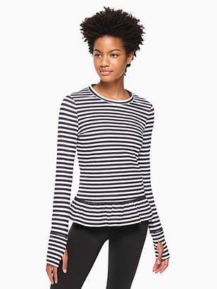 Kate Spade Stripe ruffle pullover