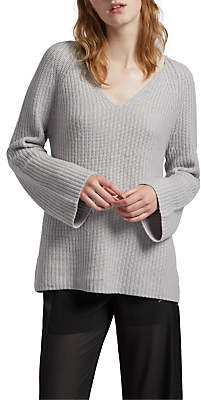 French Connection Capsule Long Sleeve Jumper, Oyster Melange