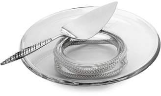 Nambe 2-Pc. Braid Glass Cake Plate & Server Set