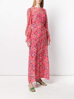 Saloni floral print maxi dress