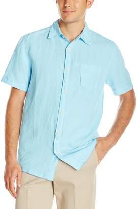 Margaritaville Men's Short Sleeve Garment Dyed Linen Shirt