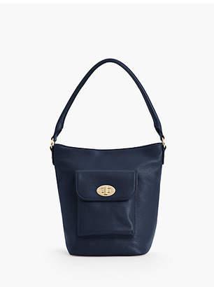 Talbots Turnlock Bucket Bag - Pebbled Leather