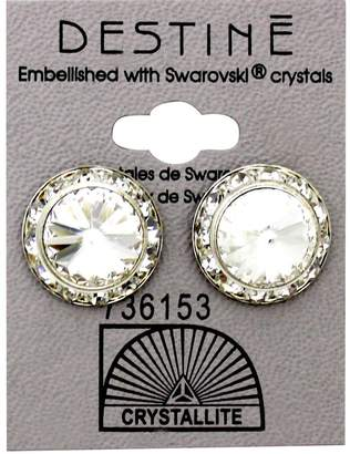 Crystallite Destine Clear RS Rivoli Crystal Earring