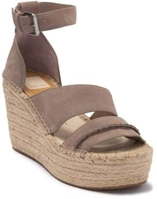 Dolce Vita Simi Suede Ankle Strap Wedge Platform Sandal
