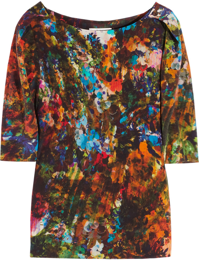 Erdem Arleen printed silk top