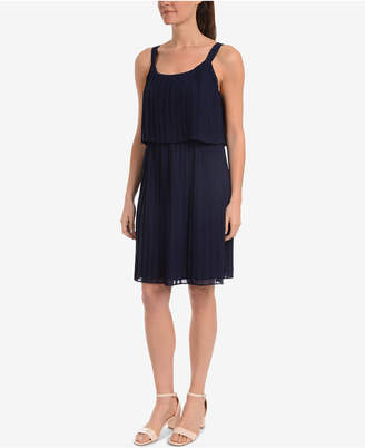 NY Collection Pleated Popover Dress