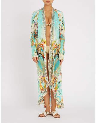 Camilla Retros Rainbow silk-crepe and stretch-knit jacket