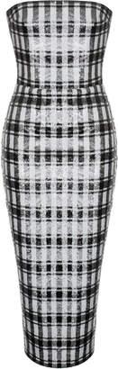 Rasario Sequin Fitted Midi Dress