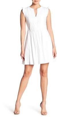 Cynthia Steffe CeCe by Flutter Sleeve Pintuck Dress