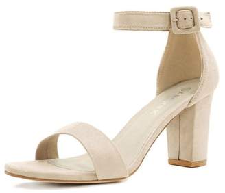 Unique Bargains Womens Open Toe Chunky High Heel Ankle Strap Sandals