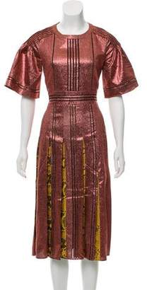 Burberry Metallic A-Line Dress