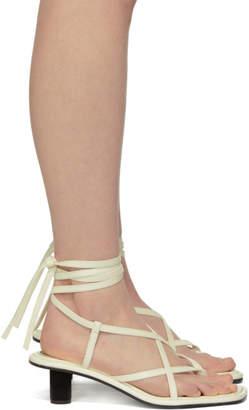 Proenza Schouler White Strappy Mid Heel Sandals
