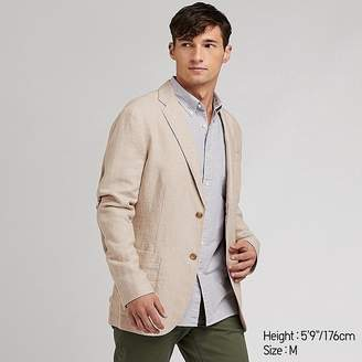 Uniqlo Men's Linen Cotton Slim-fit Jacket