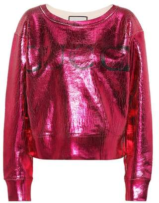 Gucci Metallic cotton sweatshirt