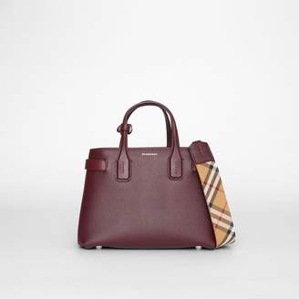 Burberry The Small Banner in Leather and Vintage Check
