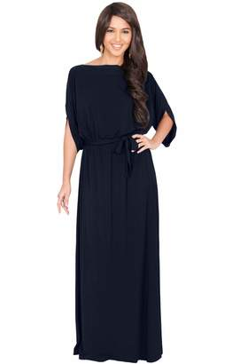 Koh Koh Womens Long Flowy Casual Short Half Sleeve with Sleeves Fall Winter  Floor Length Evening 2c43f01be