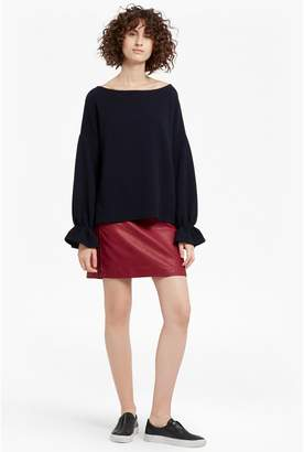 French Connection Canterbury Zipped Faux Leather Skirt