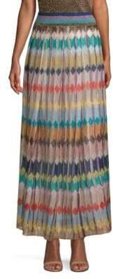 Missoni Lame Diamond Print Maxi Skirt