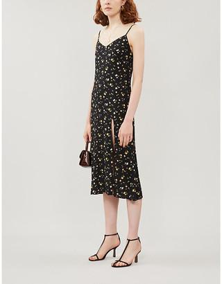 Reformation Crimini floral-print sleeveless crepe dress