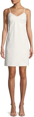 Helmut Lang Calf Leather Mini Slip Dress