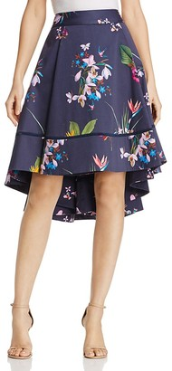 Ted Baker Tropical Oasis Floral Print High/Low Skirt $279 thestylecure.com