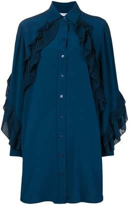 Givenchy ruffled shirt dress