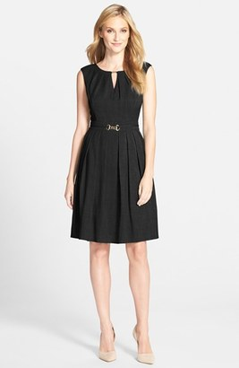 Women's Ellen Tracy 'Kenya' Fit & Flare Dress $118 thestylecure.com