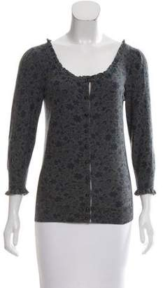 Marc by Marc Jacobs Floral Print Scoop Neck Cardigan