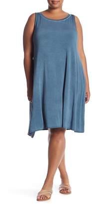 Cable & Gauge Enzyme Solid Knit Dress (Plus Size)