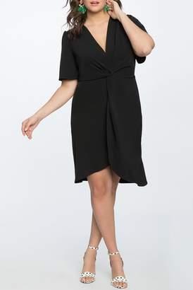ELOQUII Twist Front Dress (Plus Size)