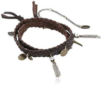 Ettika Buffalo Stance Brown and Bronze Wrap Bracelet