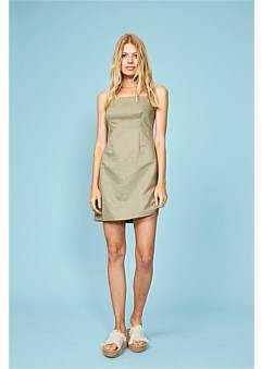 MinkPink Uluru Linen Slip Dress