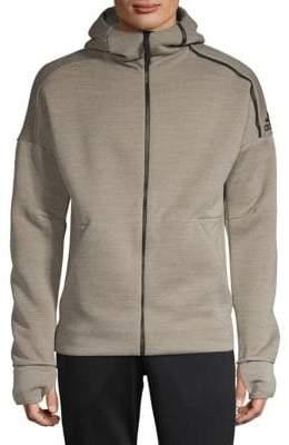 adidas Striped Logo Hooded Sweater
